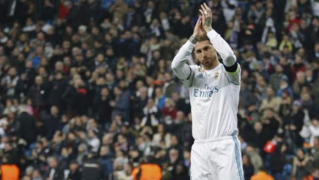 Sergio Ramos, en un partido de Champions de esta temporada.