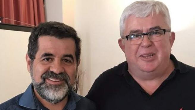 Jordi Sànchez (i) y Agustí Alcoberro (d), líderes de la ANC.