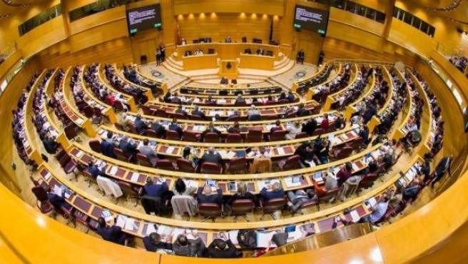 Hemiciclo del Senado durante un pleno.