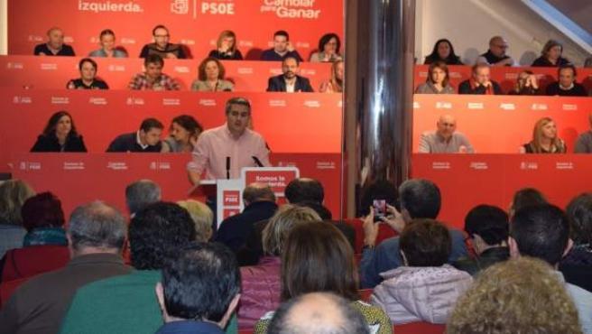 Pablo Zuloaga interviene en su primer Comité Regional