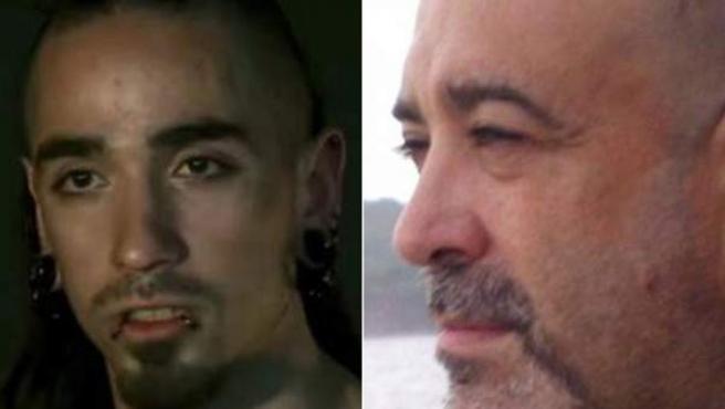 Combo de imágenes del autor del asesinato, Rodrigo Lanza, y su víctima, Víctor Laínez.