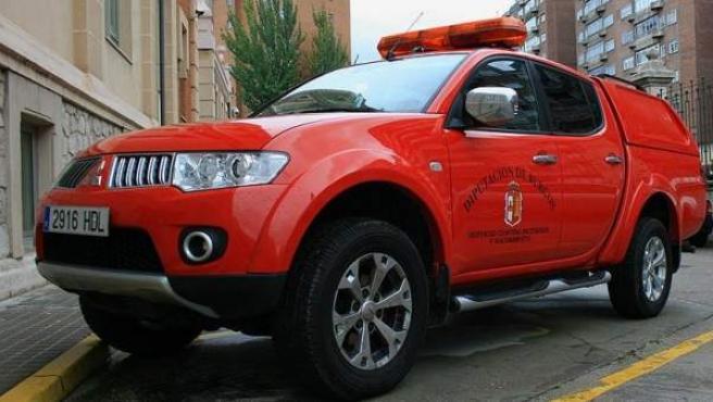 Imagen de un vehículo antiincendios de la Diputación de Burgos.