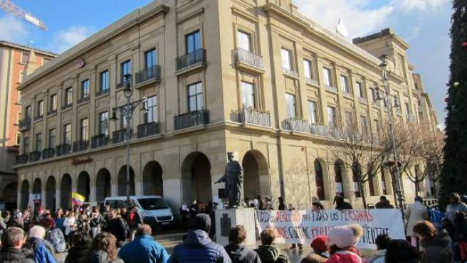 Concentración de las Ciudades de Acogida de Navarra
