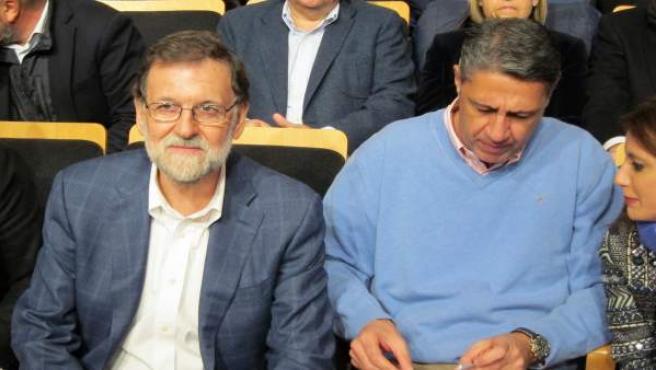 Mariano Rajoy con Xavier García Albiol en Salou (Tarragona)