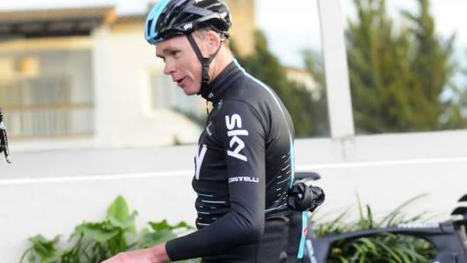 El ciclista británico Chris Froome, entrenando en Palma de Mallorca.