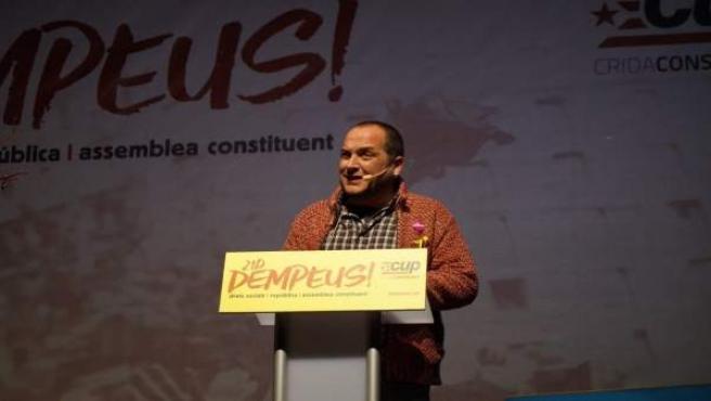 El exdiputado David Fernàndez en un acto de la CUP