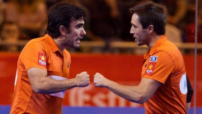 Fernando Belasteguín y Pablo Lima en el Masters de Madrid de pádel.