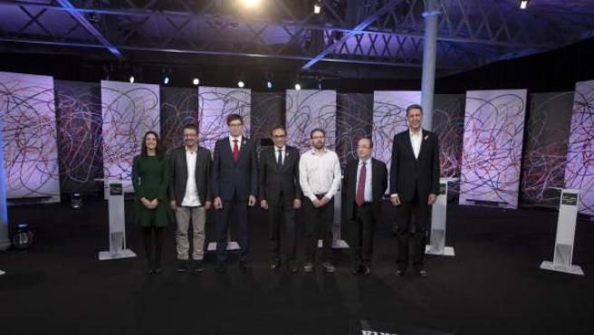 Debate de candidaturas a las elecciones catalanas 2017.