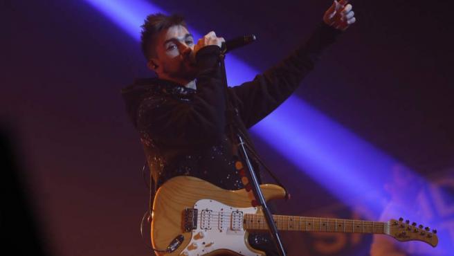 El cantante y compositor colombiano Juanes durante el concierto que ofrece esta noche en el Palacio de los Deportes de la Comunidad de Madrid donde presenta su último trabajo 'Mis planes son amarte'.