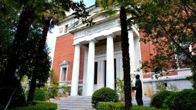 La Real Academia Española, situada en el número 4 de la calle Felipe IV.