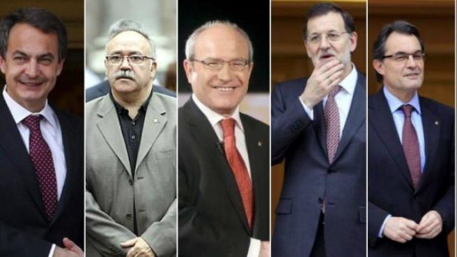 Protagonistas de la política catalana de los últimos años.