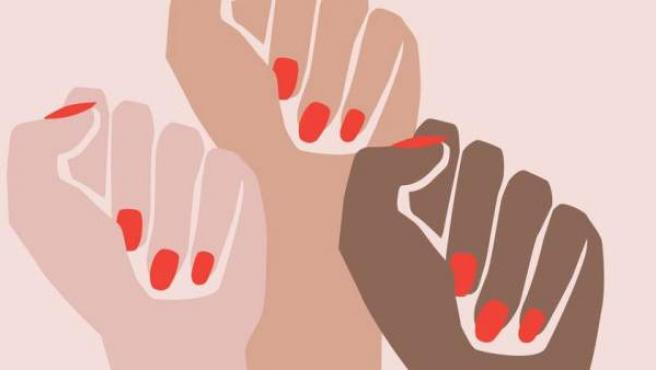 Imagen que representa el movimiento #MeToo.