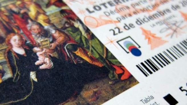 Imagen de un décimo de Lotería de Navidad
