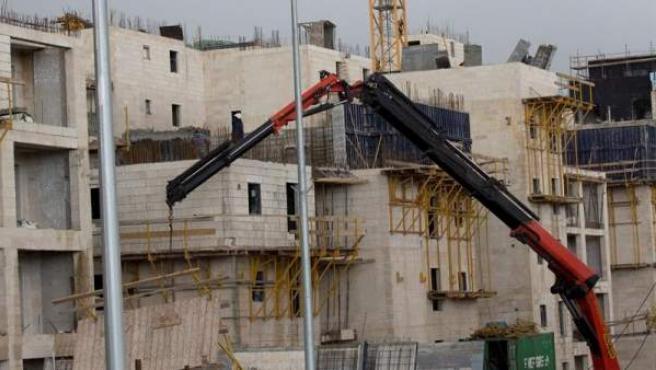Construcciones en el barrio de Har Homa, en el territorio palestino ocupado de Jerusalén Este, el 27 de diciembre de 2016.