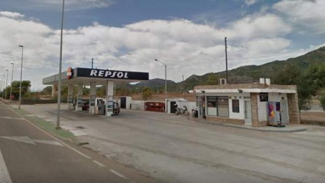 Imagen de la gasolinera de la N-340 en Benicassim.