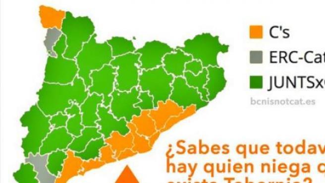 Tabarnia, la comarca costera que se quiere independizar de Cataluña.