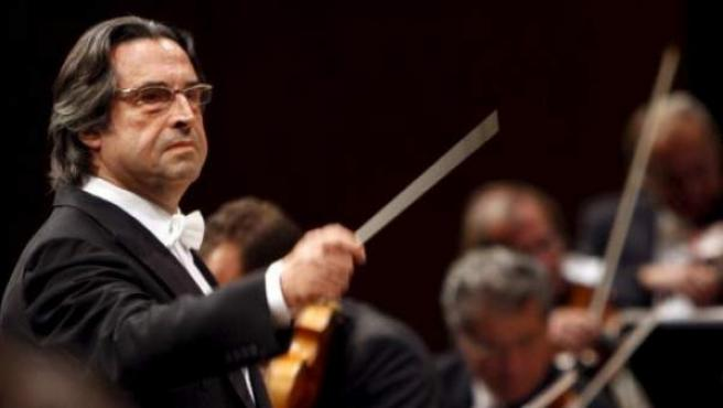 El director de orquesta Riccardo Muti.