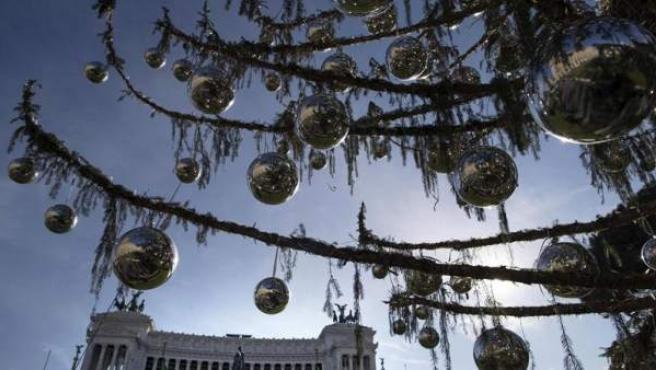 Árbol de Navidad en Roma.