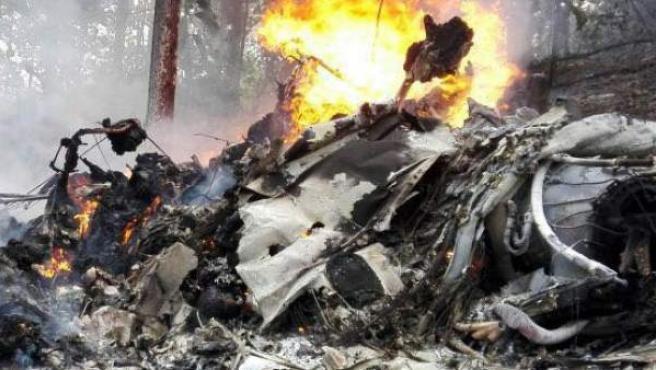 Zona del accidente de avioneta en Costa Rica.
