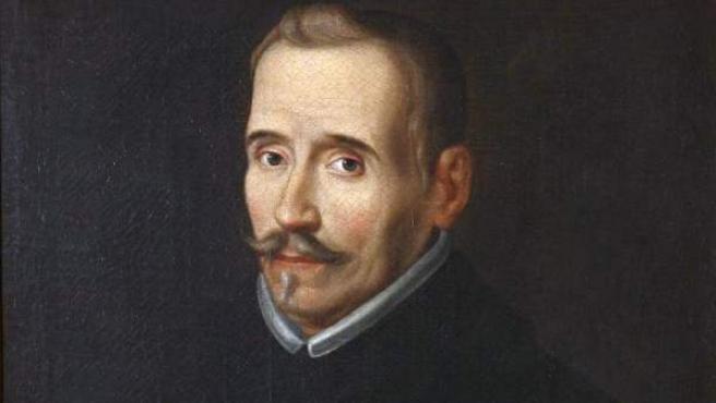 Félix Lope de Vega y Carpio, en un retrato atribuido a Eugenio Caxés, pintado en torno a 1627.