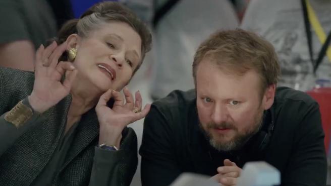 Carrie Fisher escribió la mejor escena de Leia en 'Star Wars: Los últimos Jedi'