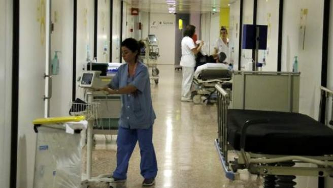 Módulo de urgencias en el Hospital de Bellvitge.