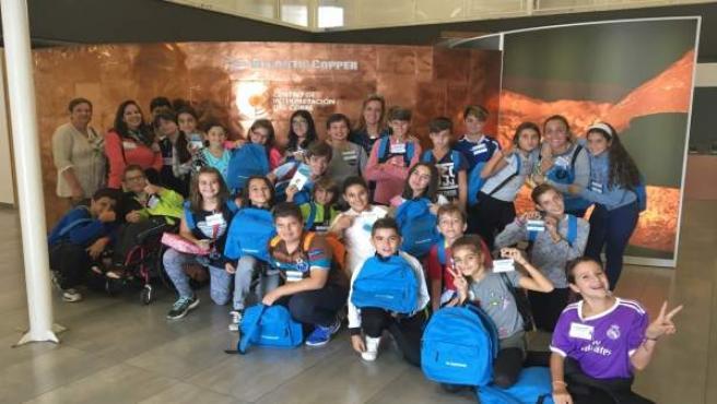 Visita de escolares al Centro de Interpretación del Cobre de Atlantic Copper.