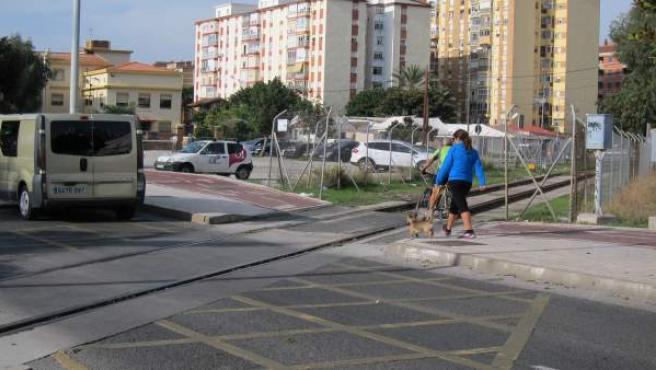 Vías tren Puerto de Málaga