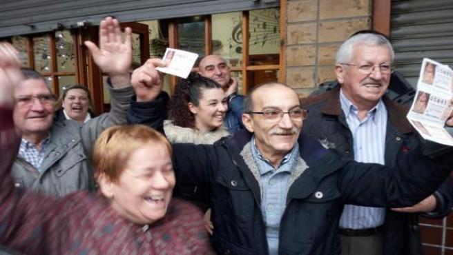 Afortunados con el 'Gordo' en Bilbao