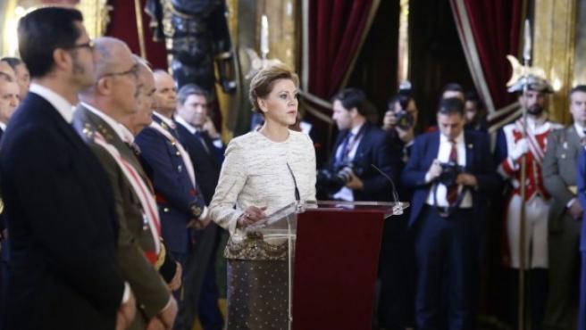 La minista de Defensa, en el discurso de la Pascua Militar