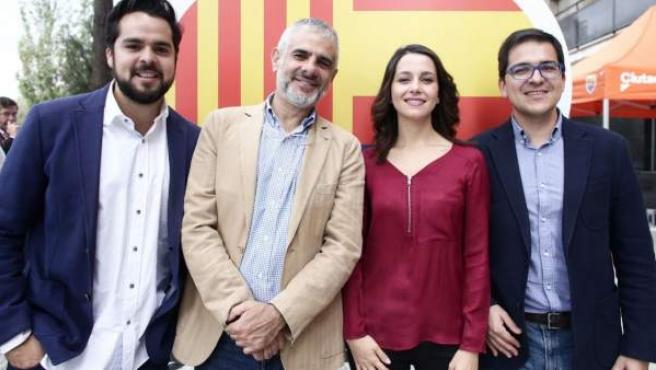 José María Espejo-Saavedra (dcha.), diputado catalán de Ciudadanos.
