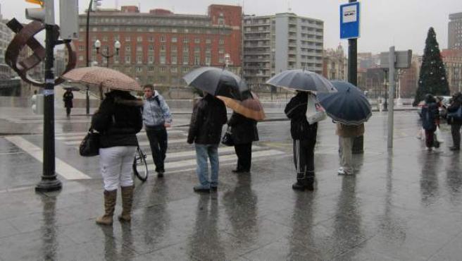 Lluvia en el País Vasco.