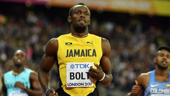<p>Usain Bolt, en el Mundial de Londres 2017.</p>