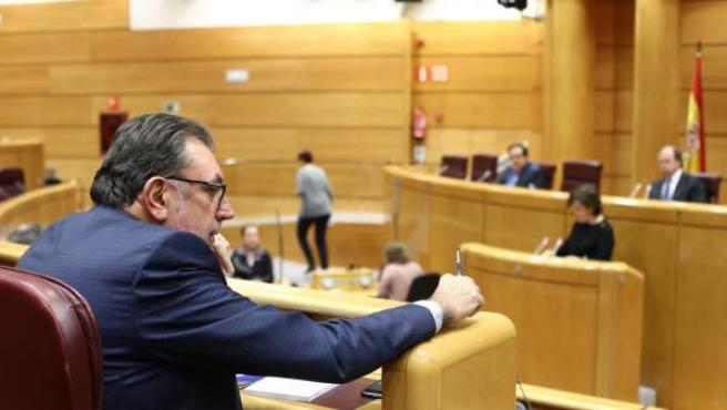 Josep Lluís Cleries y Santamaría en la Comisión del artículo 155 del Senado.