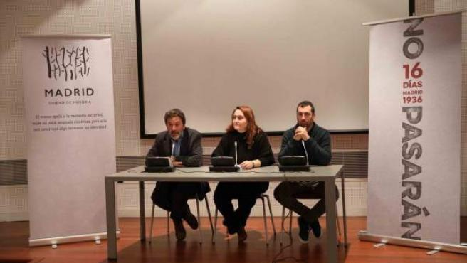 Presentación de la exposición 'No pasarán' organizada por la Oficina de Derechos Humanos y Memoria del Ayuntamiento de Madrid.