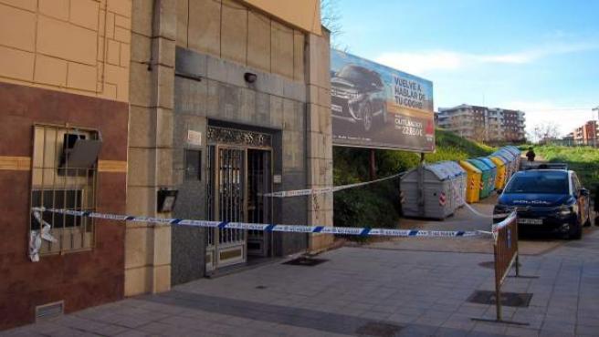 Escenario del crimen acotado por la Policía Nacional.