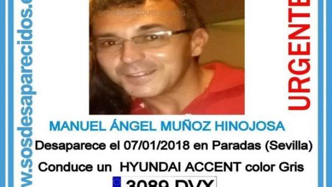 Varón desaparecido en Paradas (Sevilla)