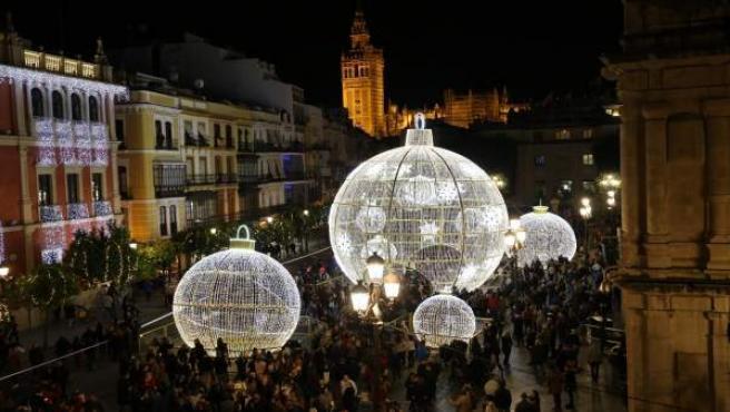 Iluminación de Navidad en Sevilla