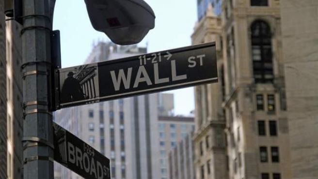 Wall Street, calle en la que se encuentra la Bolsa de Nueva York.