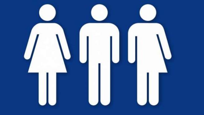 Los símbolos femenino, masculino y neutro.