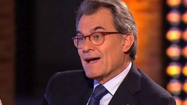 Artur Mas, entrevistado en El Objetivo de La Sexta.