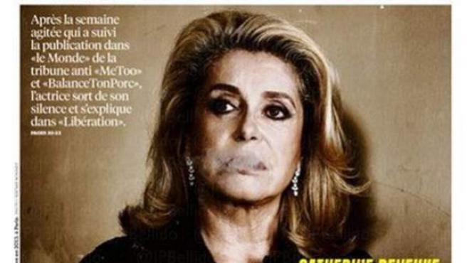 La actriz francesa Catherine Deneuve, en la portada de 'Libération'.