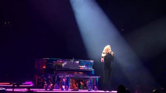 Un momento de la actuación de Lady Gaga en el Palau Sant Jordi de Barcelona.