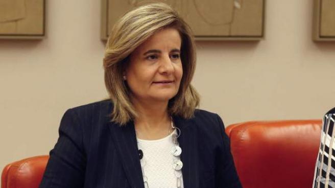 La ministra de Empleo y Seguridad Social, Fátima Báñez, den la Comisión del Pacto de Toledo.