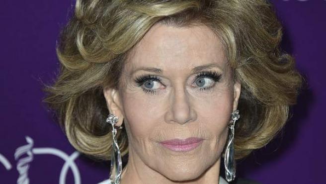 La actriz, Jane Fonda, en los Costume Designers Guild Awards.
