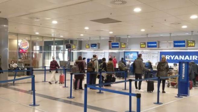Facturación de Ryanair en la T1 del Aeropuerto Adolfo Suárez.