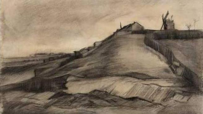 """El cuadro de Vincent Van Gogh se llama """"la colina de Montmartre con una cantera"""" y se expondrá en el museo de Laren."""