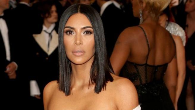 Kim Kardashian, en una gala benéfica del Instituto del Vestuario del Museo Metropolitano de Arte, en Nueva York (EE UU).