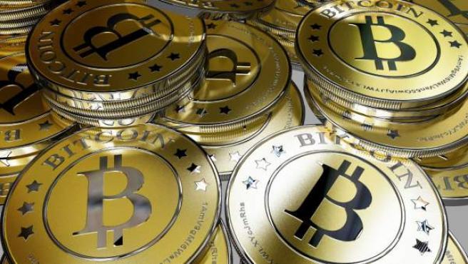 Representación gráfica de la moneda virtual Bitcoin.