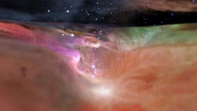Vídeo de la NASA hasta la nebulosa de Orión.